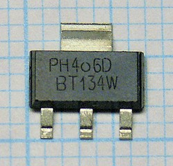 BT134W-600D Logic level Triac 600V/1A/5mA
