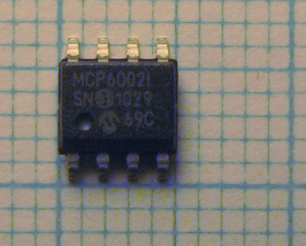 MCP6002 rail2rail CMOS dual Low Power Opamp 1Mhz