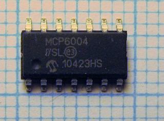 MCP6004 rail2rail CMOS quad Low Power Opamp 1Mhz